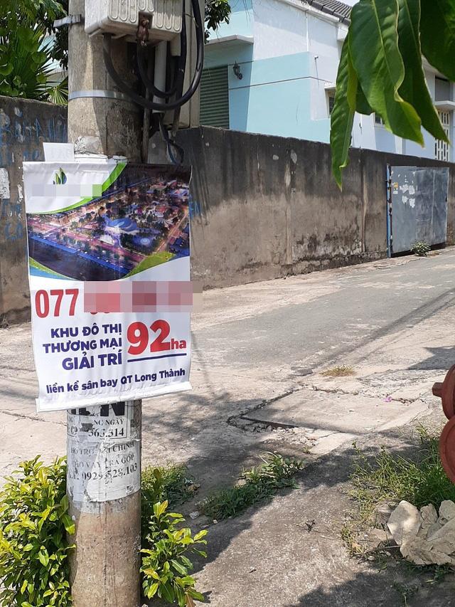 Hoa mắt với cung đường tờ dán, tờ rơi rao bán BĐS tại Long Thành (Đồng Nai) - Ảnh 5.