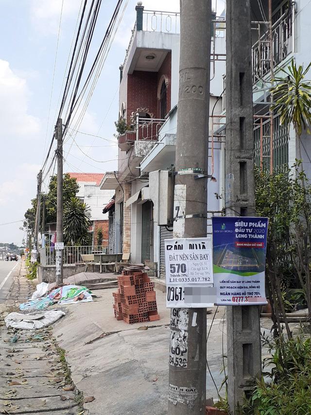 Hoa mắt với cung đường tờ dán, tờ rơi rao bán BĐS tại Long Thành (Đồng Nai) - Ảnh 6.