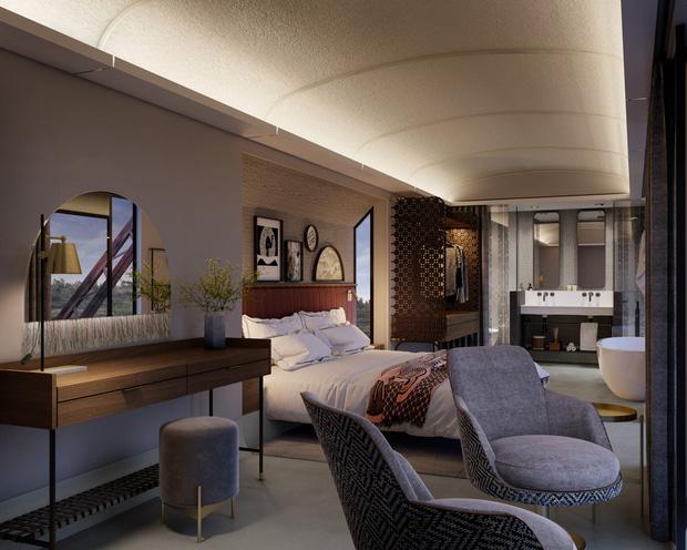 Khách sạn xa hoa nằm trên đường ray tàu hỏa sắp khai trương vào cuối năm 2020: Có giá tận 11 triệu đồng chỉ cho một đêm! - Ảnh 7.