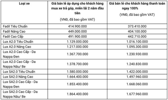 Xe VinFast tăng giá hơn 100 triệu đồng trong tháng 6/2020 - Ảnh 1.