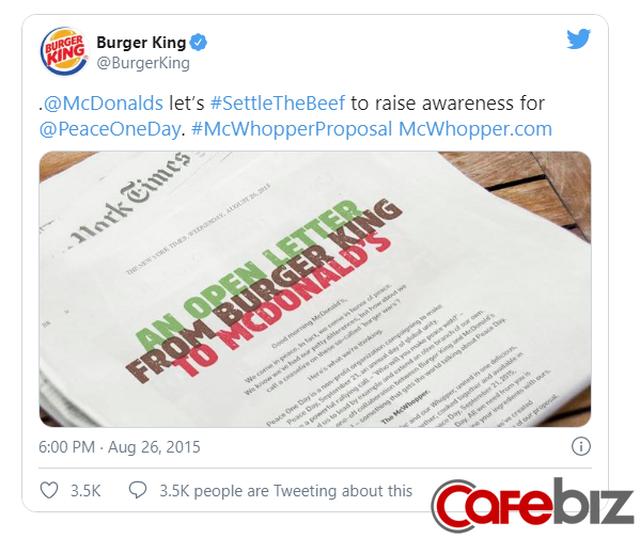 [Case Study] Thâm nho như Burger King: Chỉ 1 câu đề nghị khiến McDonalds tiến thoái lưỡng nan, tạo cú hích truyền thông với fan đồ ăn nhanh - Ảnh 1.