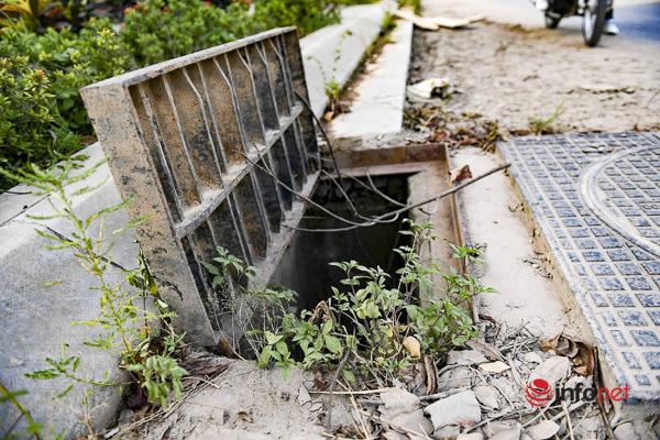 Hà Nội: Đại lộ nghìn tỷ vừa thông xe biến thành các bãi rác rùng mình - Ảnh 4.