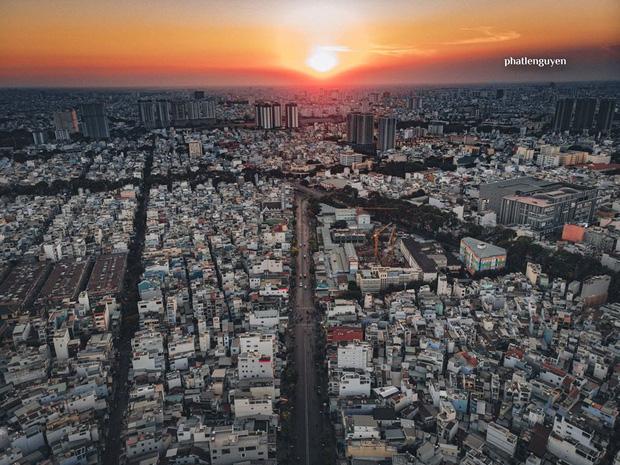 """Không tin vào mắt mình trước bộ ảnh chụp Sài Gòn từ trên cao đang """"gây bão"""" MXH: Xem hình, bạn đoán được đúng tên bao nhiêu địa điểm? - Ảnh 1."""