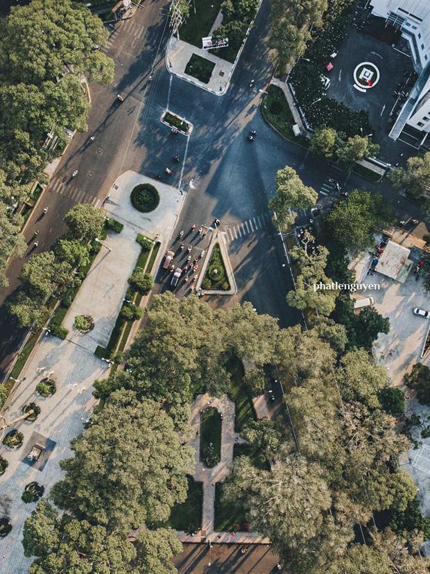 """Không tin vào mắt mình trước bộ ảnh chụp Sài Gòn từ trên cao đang """"gây bão"""" MXH: Xem hình, bạn đoán được đúng tên bao nhiêu địa điểm? - Ảnh 38."""