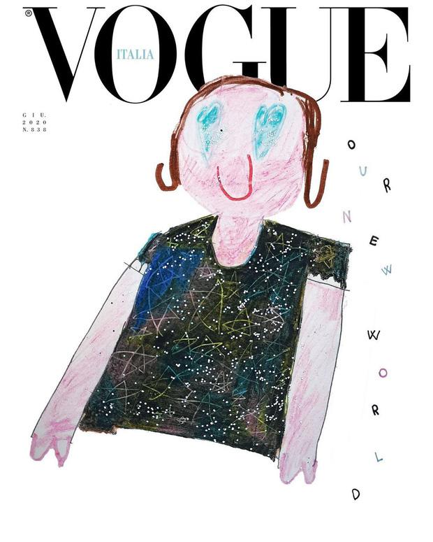 Nối gót Gucci, Vogue Ý cũng post ảnh bìa được vẽ nguệch ngoạc nhưng ý nghĩa đằng sau lại thật ấm lòng - Ảnh 8.