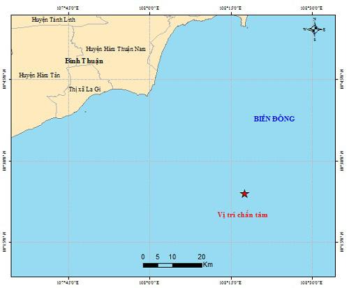 Xảy ra động đất ngoài khơi Bình Thuận - Ảnh 1.