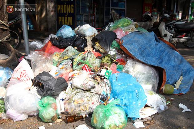 Hà Nội: Rác chất thành đống tràn ra khắp đường phố, nhiều người phải di tản vì phát ốm với mùi hôi thối - Ảnh 17.