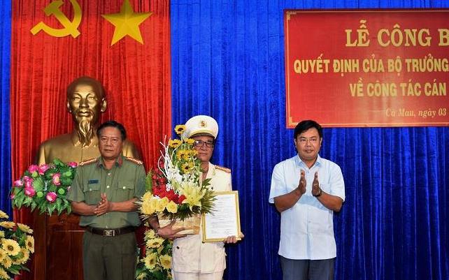 Cà Mau có tân Phó Giám đốc Công an tỉnh