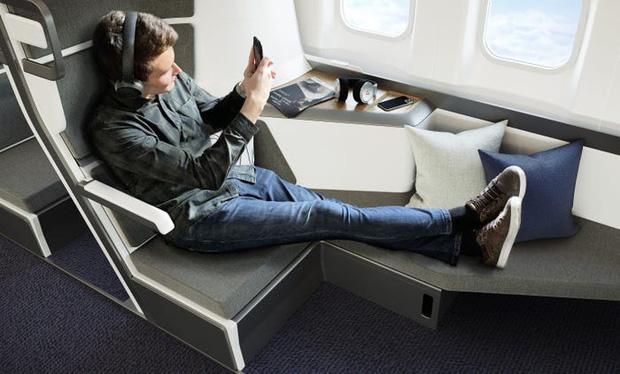 Cận cảnh khoang máy bay hạng phổ thông trong tương lai: Du khách có thể thoải mái nằm dài với thiết kế ghế ngồi hoàn toàn mới - Ảnh 3.