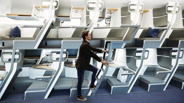 Cận cảnh khoang máy bay hạng phổ thông trong tương lai: Du khách có thể thoải mái nằm dài với thiết kế ghế ngồi hoàn toàn mới - Ảnh 5.