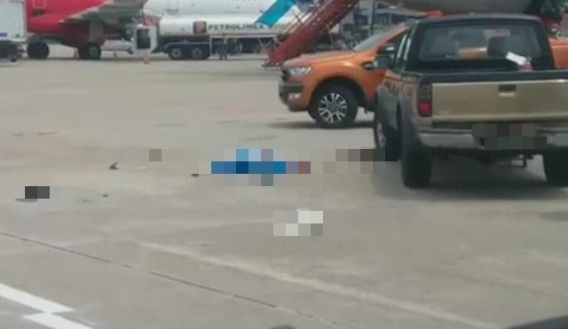 Ô tô bán tải đâm tử vong nhân viên vệ sinh sân đường ở sân bay Nội Bài - Ảnh 1.