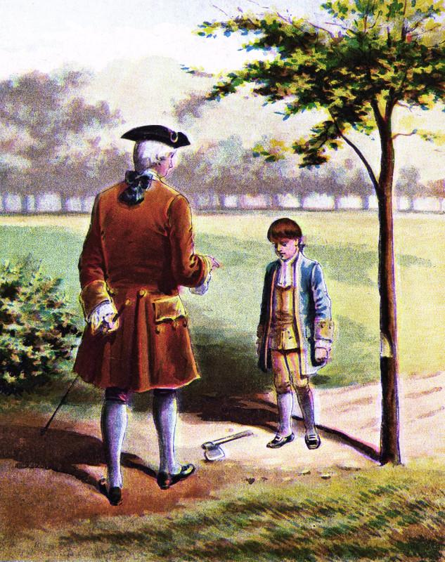 Lỡ chặt cây anh đào của cha, khi bị hỏi tội, con trai nói 1 câu và nhiều năm sau trở thành Tổng thống Hoa Kỳ - Ảnh 1.