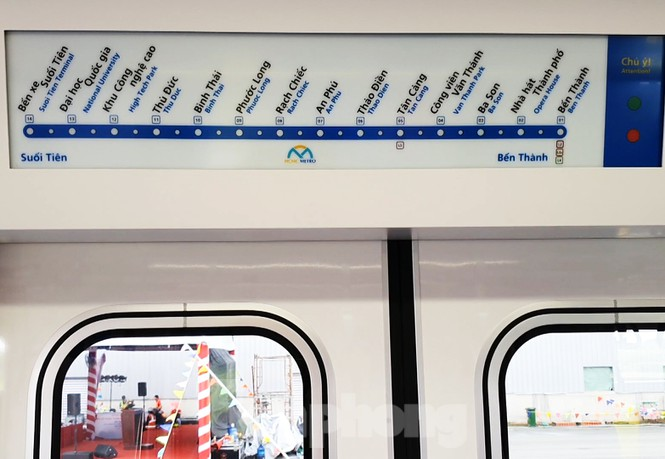 Có gì bên trong đoàn tàu metro số 1 của TPHCM? - Ảnh 8.