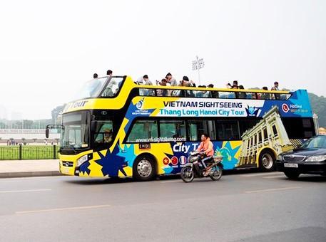 Hình ảnh xe buýt 2 tầng trong ngày đầu lăn bánh trở lại ở Hà Nội - Ảnh 3.