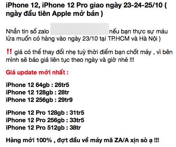 Mất thêm 10 triệu đồng để sở hữu sớm iPhone 12 Pro Max tại Việt Nam - Ảnh 2.