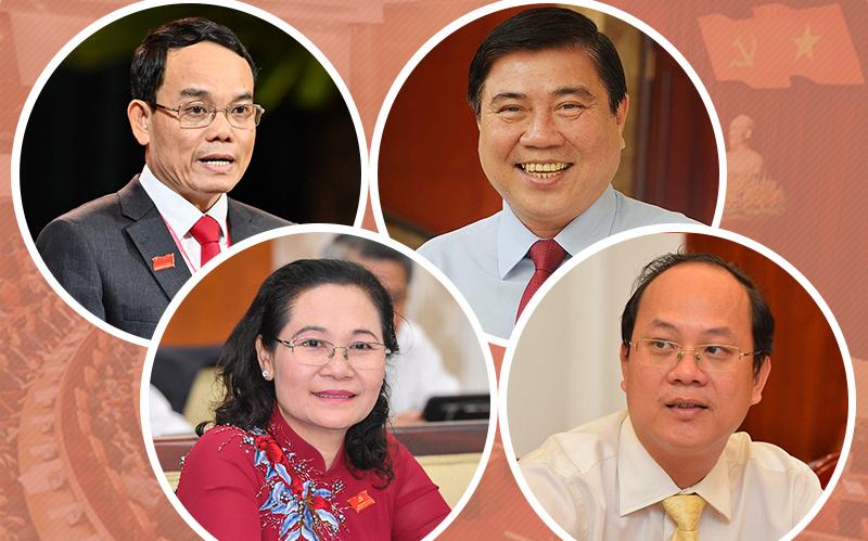 [Infographic] Chân dung 4 Phó Bí thư Thành ủy TPHCM