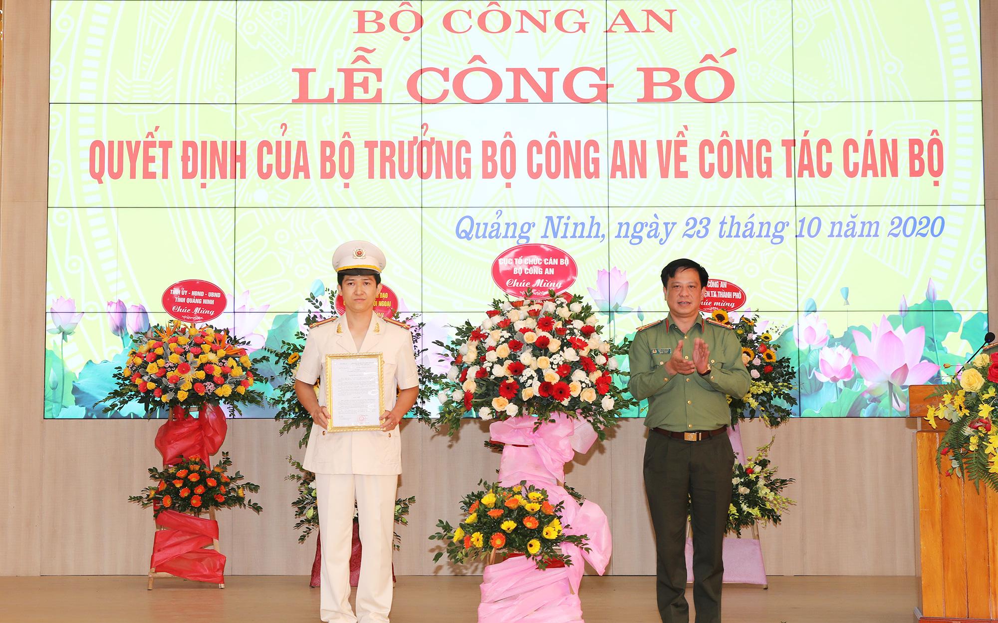 Trao Quyết định bổ nhiệm Phó Giám đốc Công an tỉnh Quảng Ninh