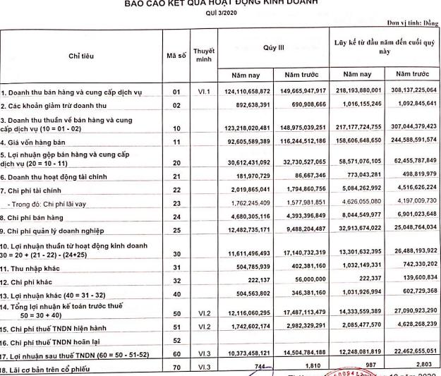 Áp lực lùi đơn hàng do Covid-19 khiến một DN dệt may giảm gần nửa LNTT xuống còn 14 tỷ, 9 tháng chỉ thực hiện 25% chỉ tiêu năm - Ảnh 1.