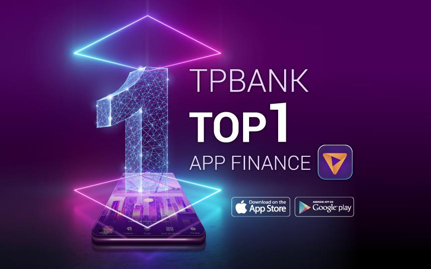 TPBank Mobile bất ngờ lọt top 1 ứng dụng tài chính ngân hàng được tải nhiều nhất tại Việt Nam