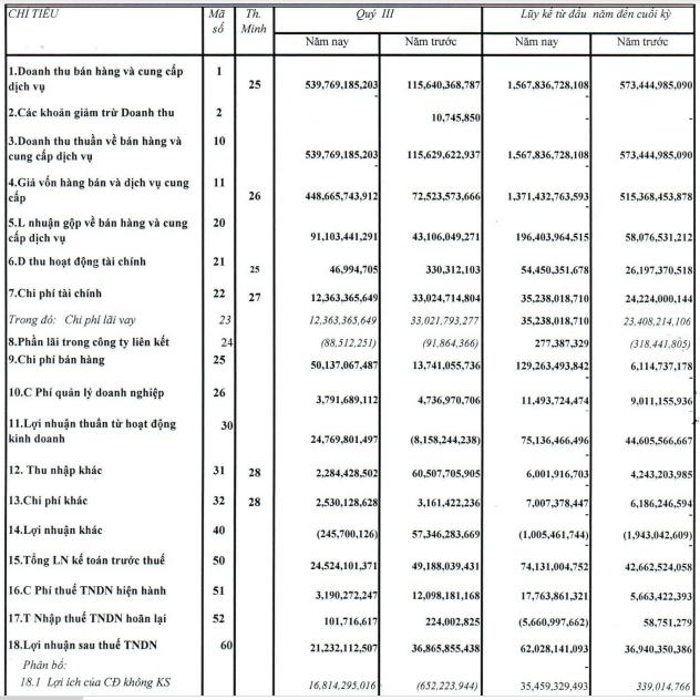 Quốc Cường Gia Lai (QCG): Quý 3/2020 lãi ròng tiếp tục giảm sâu 88%, chỉ còn hơn 4 tỷ đồng - Ảnh 1.