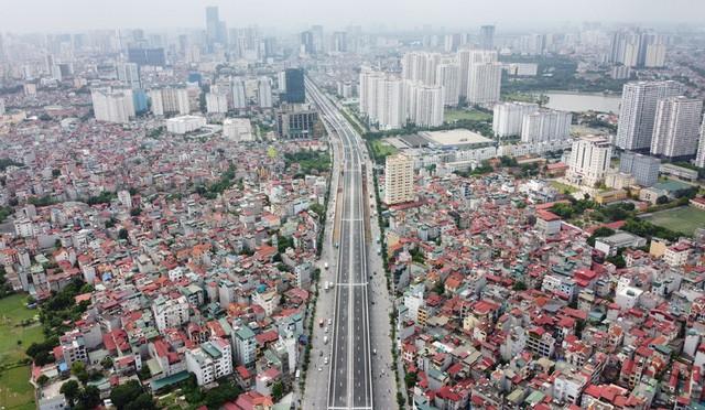 Mục sở thị Vành đai 3 trên cao đẹp nhất Hà Nội đoạn Mai Dịch - Nam Thăng Long trước giờ thông xe - Ảnh 9.