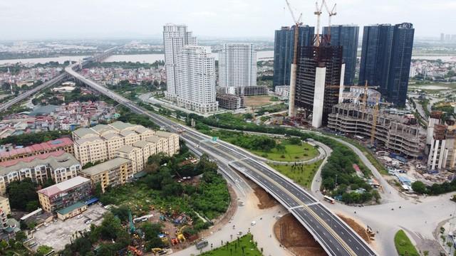 Mục sở thị Vành đai 3 trên cao đẹp nhất Hà Nội đoạn Mai Dịch - Nam Thăng Long trước giờ thông xe - Ảnh 10.