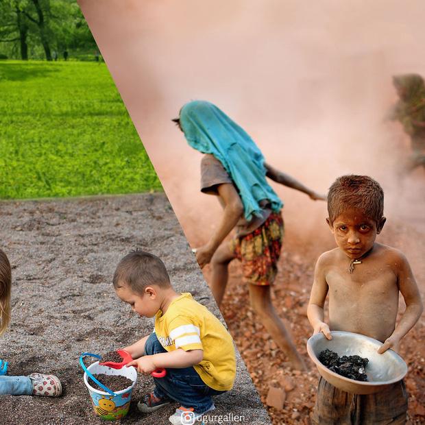 Hai thế giới: Bộ ảnh khiến người xem phải rơi nước mắt cho những đứa trẻ sống giữa đạn bom, bình yên là điều vô cùng xa xỉ - Ảnh 11.