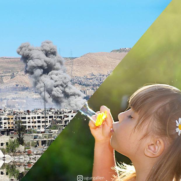 Hai thế giới: Bộ ảnh khiến người xem phải rơi nước mắt cho những đứa trẻ sống giữa đạn bom, bình yên là điều vô cùng xa xỉ - Ảnh 13.