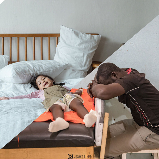 Hai thế giới: Bộ ảnh khiến người xem phải rơi nước mắt cho những đứa trẻ sống giữa đạn bom, bình yên là điều vô cùng xa xỉ - Ảnh 16.