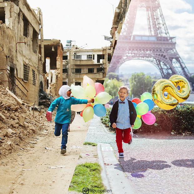 Hai thế giới: Bộ ảnh khiến người xem phải rơi nước mắt cho những đứa trẻ sống giữa đạn bom, bình yên là điều vô cùng xa xỉ - Ảnh 3.