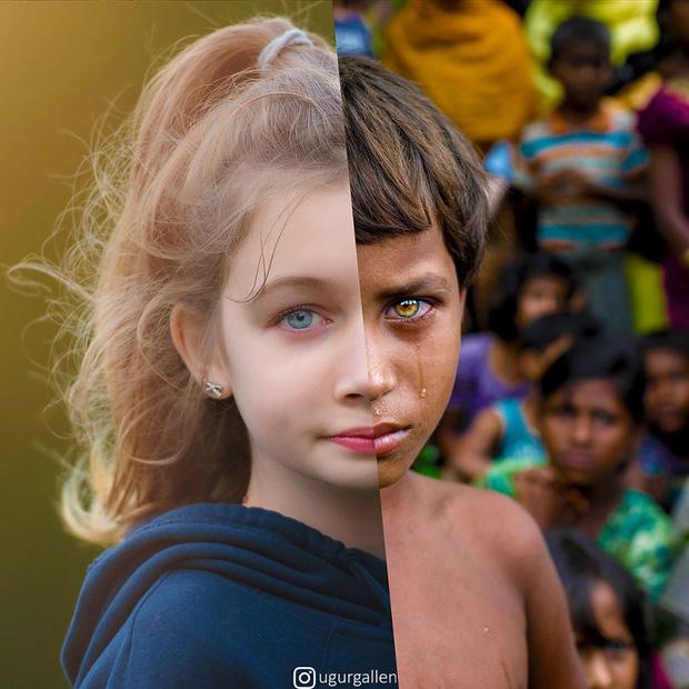 Hai thế giới: Bộ ảnh khiến người xem phải rơi nước mắt cho những đứa trẻ sống giữa đạn bom, bình yên là điều vô cùng xa xỉ - Ảnh 7.