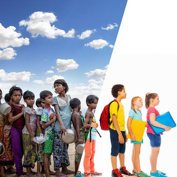 Hai thế giới: Bộ ảnh khiến người xem phải rơi nước mắt cho những đứa trẻ sống giữa đạn bom, bình yên là điều vô cùng xa xỉ - Ảnh 8.