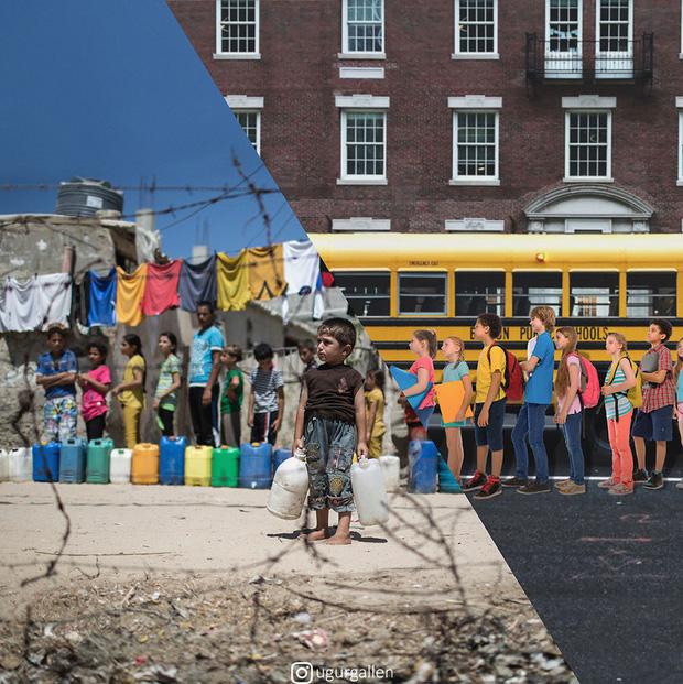 Hai thế giới: Bộ ảnh khiến người xem phải rơi nước mắt cho những đứa trẻ sống giữa đạn bom, bình yên là điều vô cùng xa xỉ - Ảnh 10.