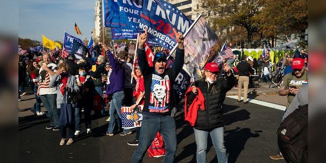 Hàng chục nghìn người biểu tình đổ về Washington, D.C., hô hào thêm 4 năm cho Tổng thống Trump - Ảnh 3.