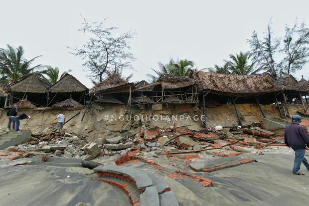 Biển An Bàng (Hội An) tan tác sau cơn bão số 13, du lịch ảnh hưởng nặng nề - Ảnh 5.