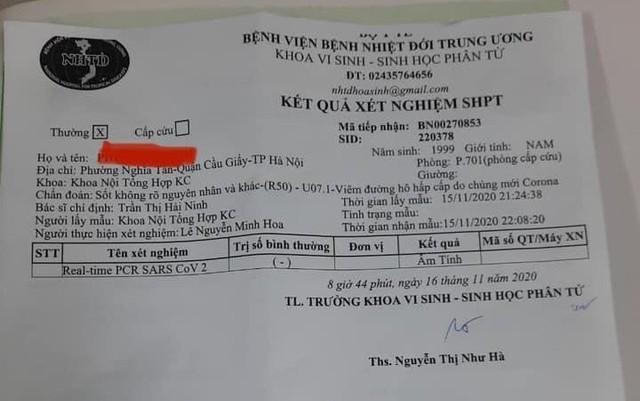 Bệnh nhân ở Hà Nội vừa phát hiện dương tính lại có kết quả xét nghiệm âm tính với SARS-CoV-2 - Ảnh 1.
