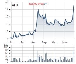 AFX tăng 71% từ đầu tháng 11, một cá nhân vẫn muốn ôm trọn gần 18 triệu cổ phần Afiex do SCIC thoái vốn - Ảnh 1.