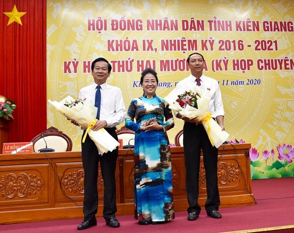 Kiên Giang có tân Chủ tịch HĐND và Chủ tịch UBND tỉnh - Ảnh 1.