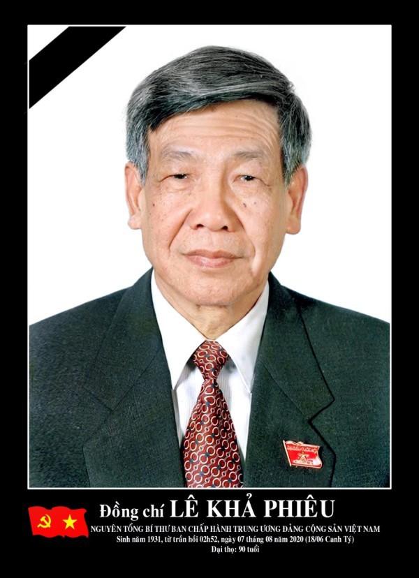 Thông cáo đặc biệt về Lễ tang nguyên Tổng Bí thư Lê Khả Phiêu - Ảnh 1.