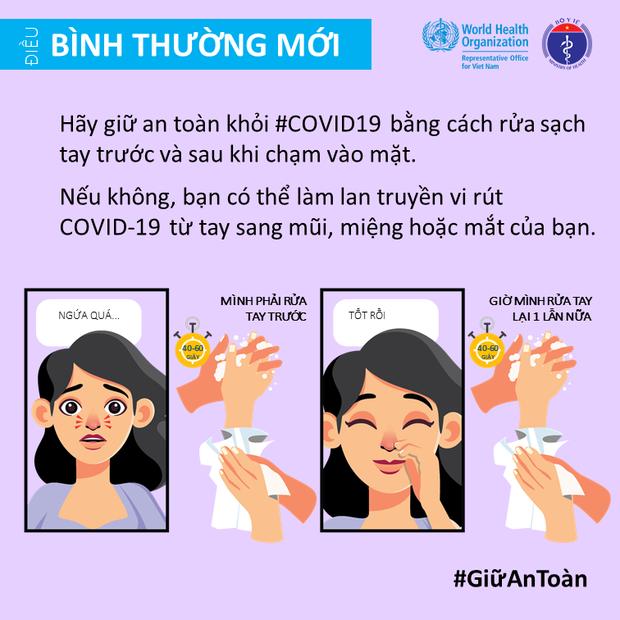 Bộ Y tế và Văn phòng WHO tại Việt Nam nhấn mạnh một vài điểm cần lưu ý để giảm thiểu nguy cơ lây nhiễm COVID-19 cho mỗi người - Ảnh 2.