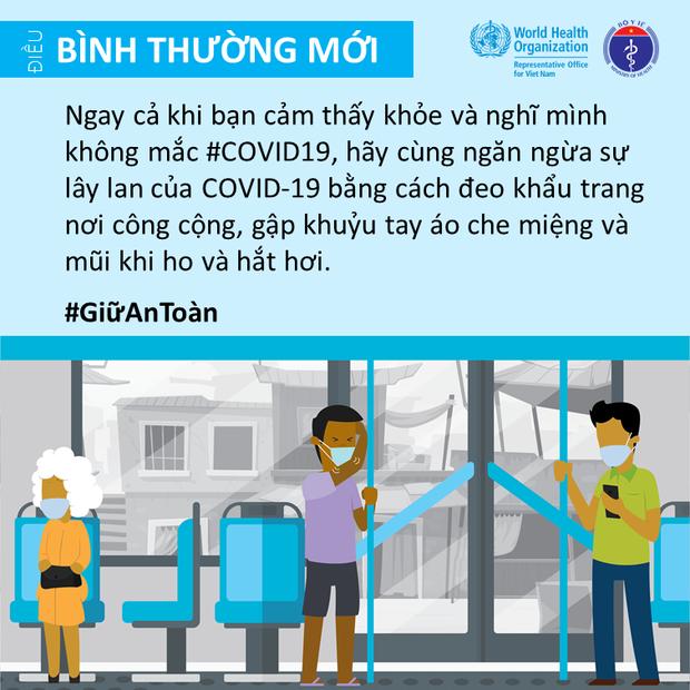 Bộ Y tế và Văn phòng WHO tại Việt Nam nhấn mạnh một vài điểm cần lưu ý để giảm thiểu nguy cơ lây nhiễm COVID-19 cho mỗi người - Ảnh 7.