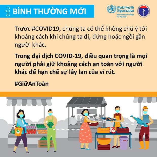 Bộ Y tế và Văn phòng WHO tại Việt Nam nhấn mạnh một vài điểm cần lưu ý để giảm thiểu nguy cơ lây nhiễm COVID-19 cho mỗi người - Ảnh 8.