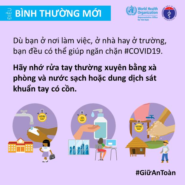 Bộ Y tế và Văn phòng WHO tại Việt Nam nhấn mạnh một vài điểm cần lưu ý để giảm thiểu nguy cơ lây nhiễm COVID-19 cho mỗi người - Ảnh 9.