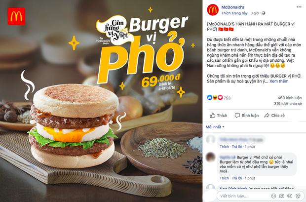 """Ra mắt burger vị phở, McDonald's nhận về """"cơn bão"""" tranh luận từ cư dân mạng: """"Với giá đó ăn được 2 bát phở mà còn ngon hơn"""" - Ảnh 1."""
