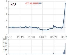 Hapaco lên tiếng về việc cổ phiếu HAP tăng trần 12 phiên liên tiếp, từ 3.000 lên gần 7.000 đồng - Ảnh 1.