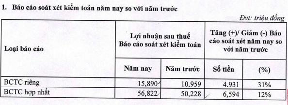 Du lịch Thành Thành Công (VNG) báo lãi ròng tăng 73% sau soát xét - Ảnh 2.