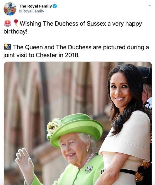 Đúng vào ngày sinh nhật của Meghan Markle, Nữ hoàng Anh cùng gia đình hoàng gia đồng loạt lên tiếng chúc mừng gây ra nhiều tranh luận - Ảnh 1.