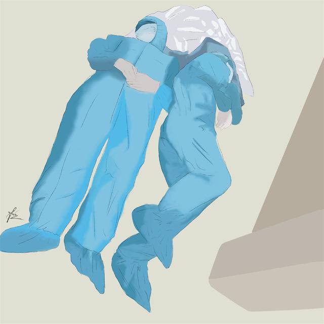 Lời cảm ơn những người hùng áo trắng được khắc họa trong bộ tranh tri ân vô cùng xúc động của nữ sinh Đà Nẵng - Ảnh 7.
