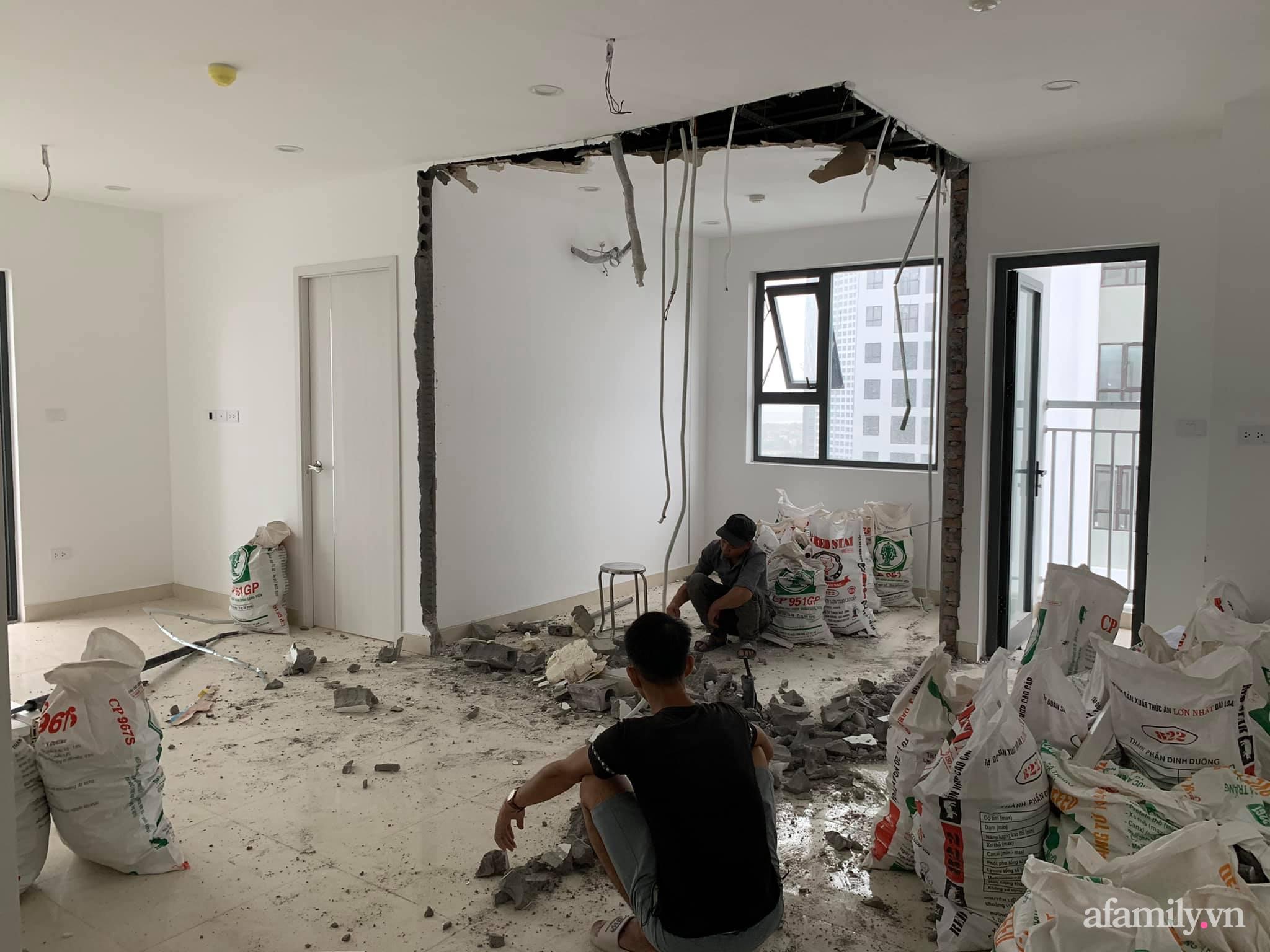 Nhà ở xã hội 69m² siêu ấm áp và tiện ích với chi phí cải tạo 200 triệu đồng của cặp vợ chồng 9X ở Từ Liêm, Hà Nội - Ảnh 3.