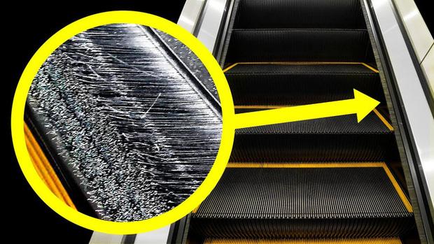 Đi trung tâm thương mại bao năm nay nhưng giờ tôi mới biết bàn chải ở thang cuốn không phải để đánh giày! - Ảnh 1.